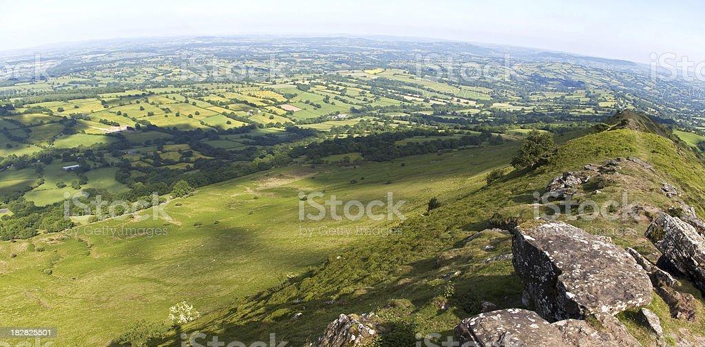 Green countryside panorama royalty-free stock photo