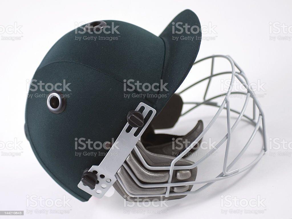 Green Cricket Helmet royalty-free stock photo