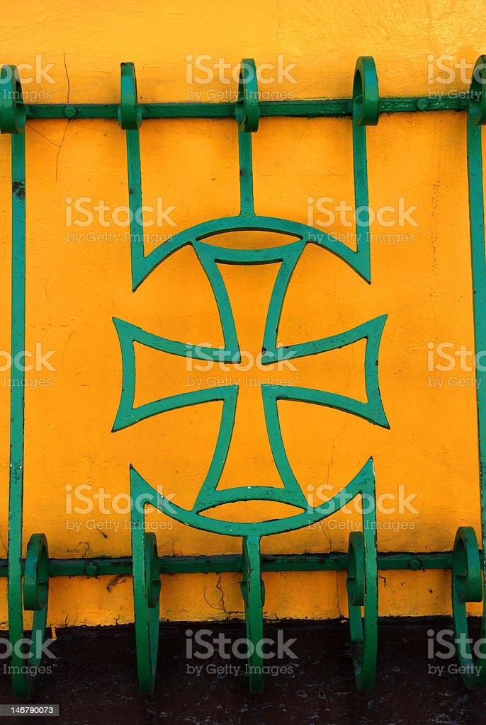 Green cross royalty-free stock photo