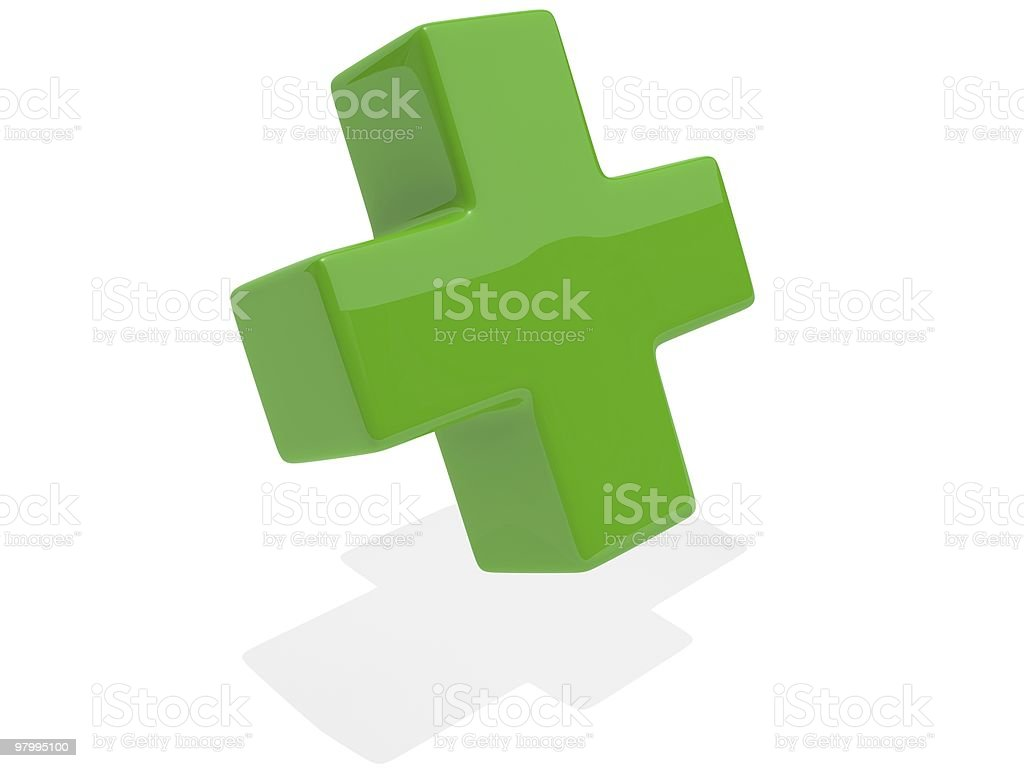Green Cross royalty-free stock photo