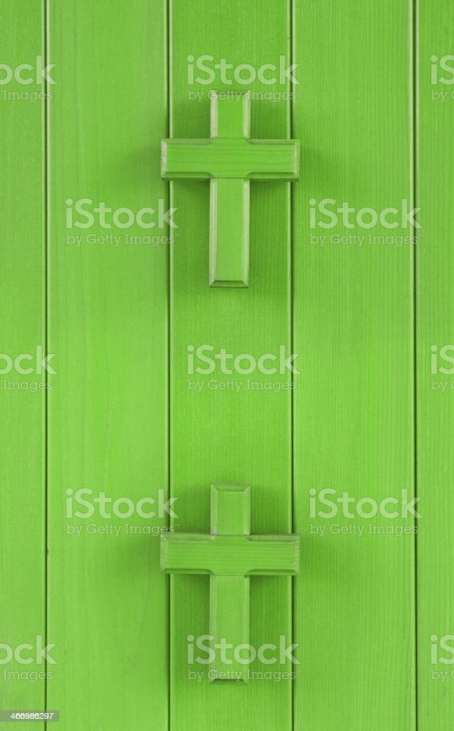 Green crosses royalty-free stock photo