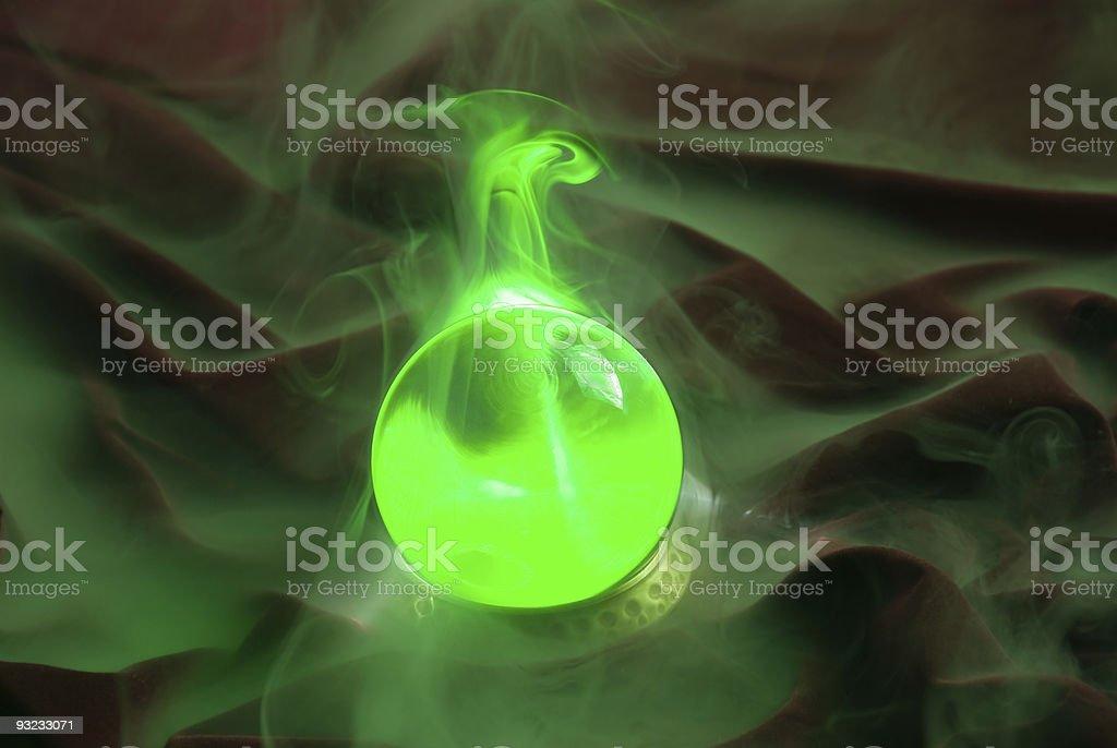 Green crystal ball royalty-free stock photo