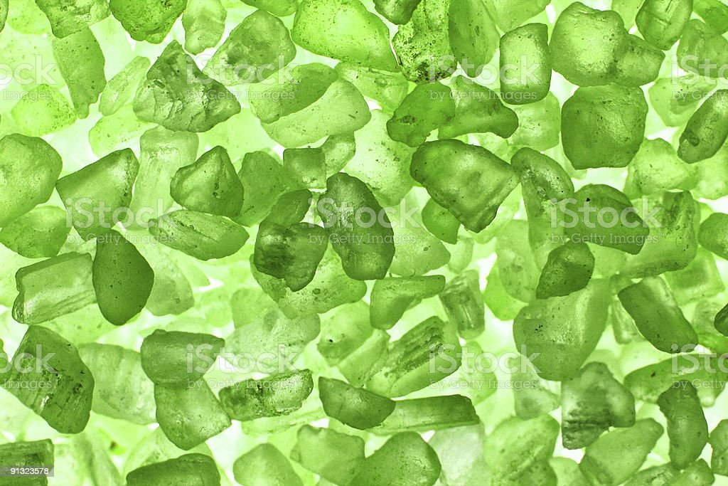 Green crystals backgound royalty-free stock photo