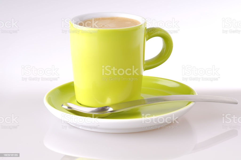 Green cup of coffe royalty-free stock photo
