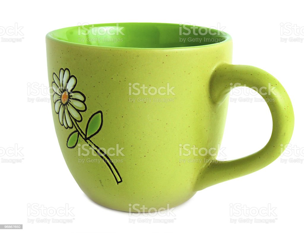 Green cup royalty-free stock photo