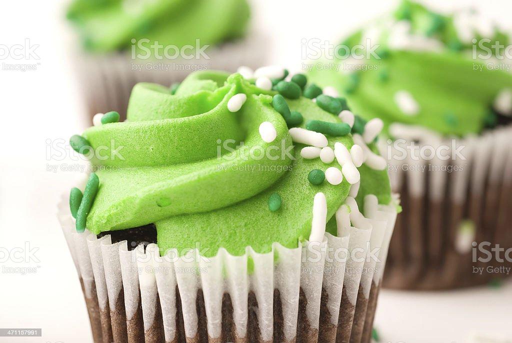 Green cupcakes royalty-free stock photo