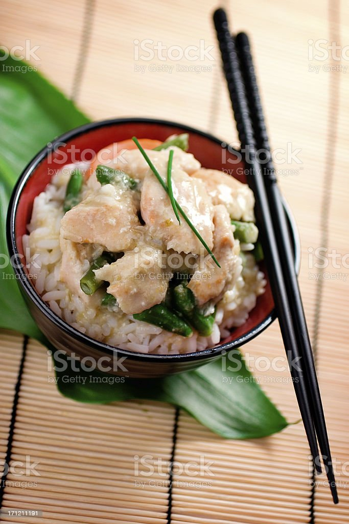 Green Curry Chicken royalty-free stock photo
