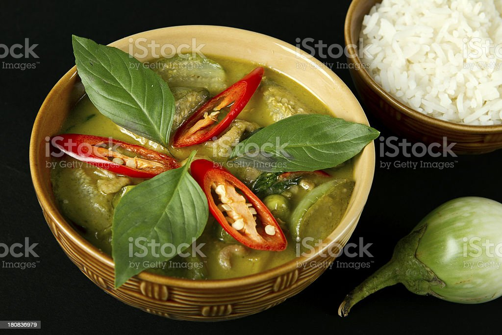 Green curry dish royalty-free stock photo