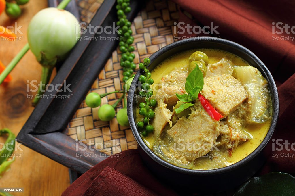 Green curry food. stock photo