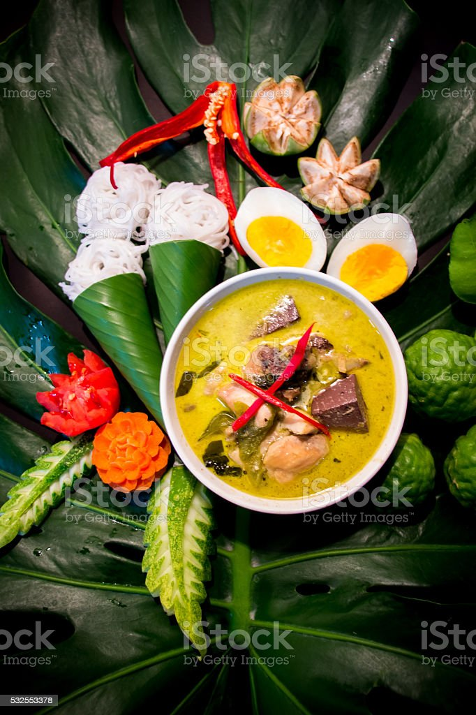Green Curry (Kaeng khiao wan) stock photo