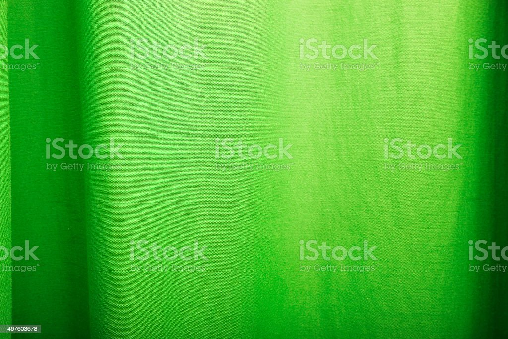Green Curtain Background stock photo