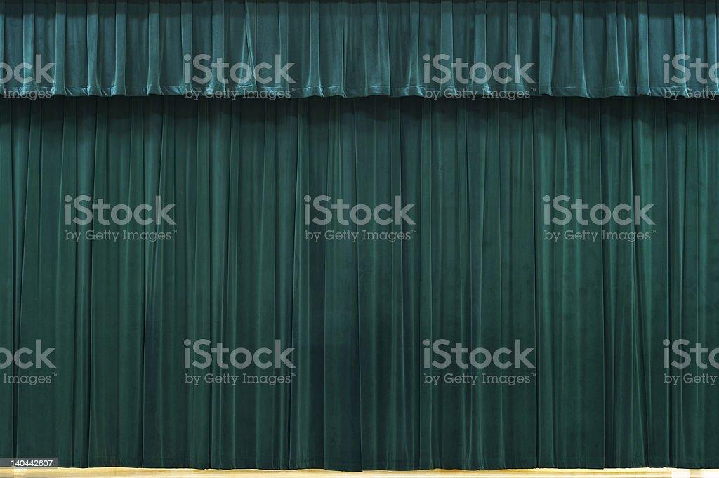 green curtain royalty-free stock photo