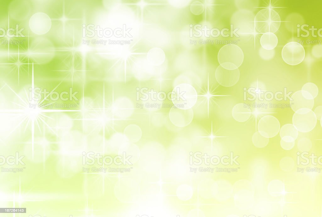Green Defocused Lights and Sparkles royalty-free stock photo