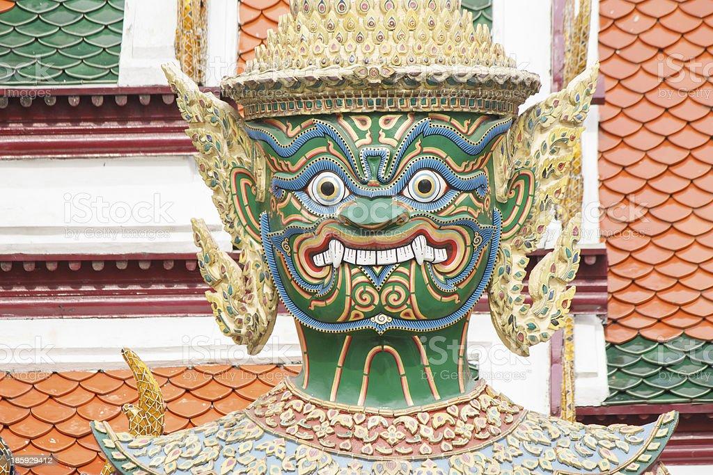 Green Demon Statue royalty-free stock photo