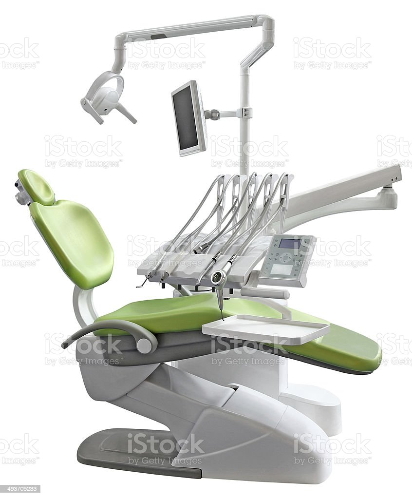 Green Dental Chair stock photo