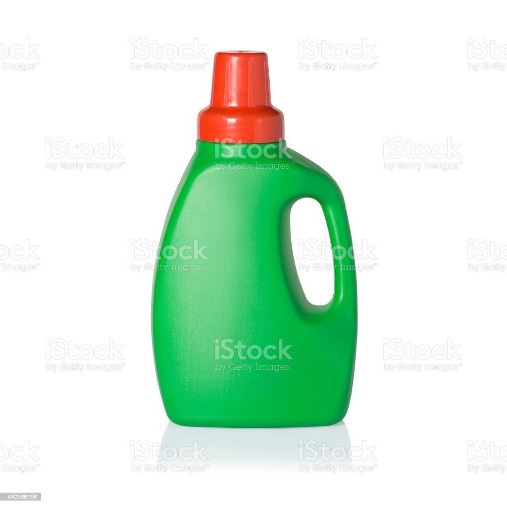 Green Detergent Bottle stock photo