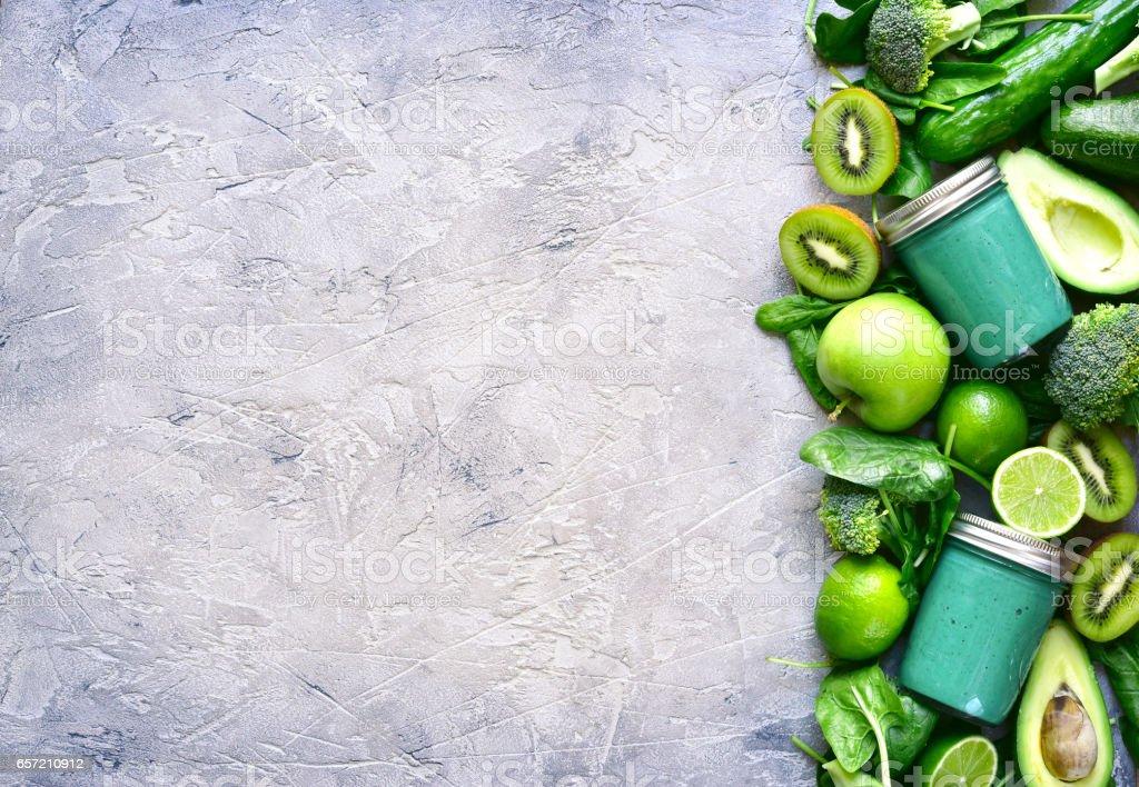 Green detox smoothie stock photo
