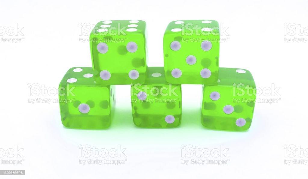 Green Dice stock photo