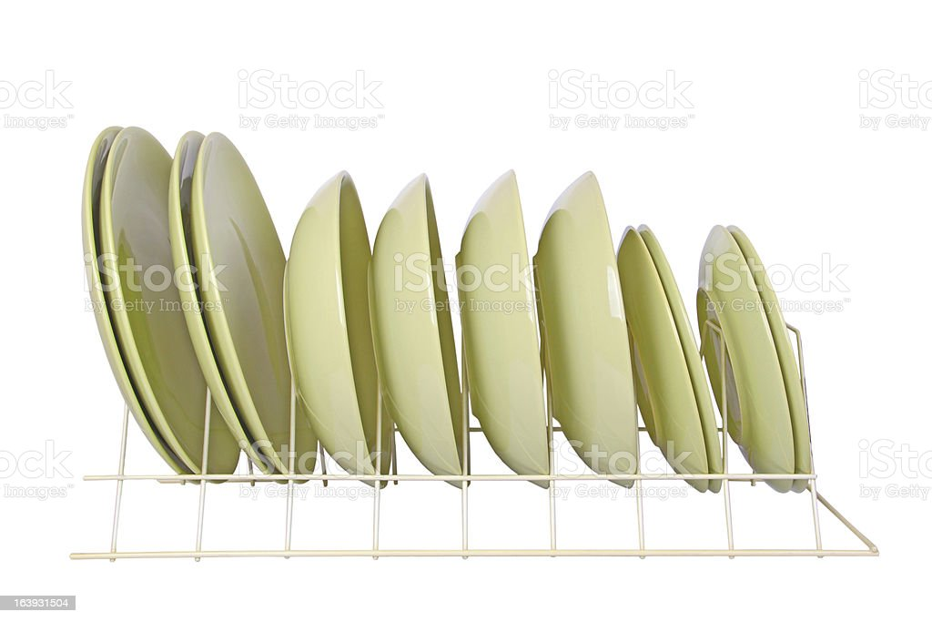 green dishes royalty-free stock photo