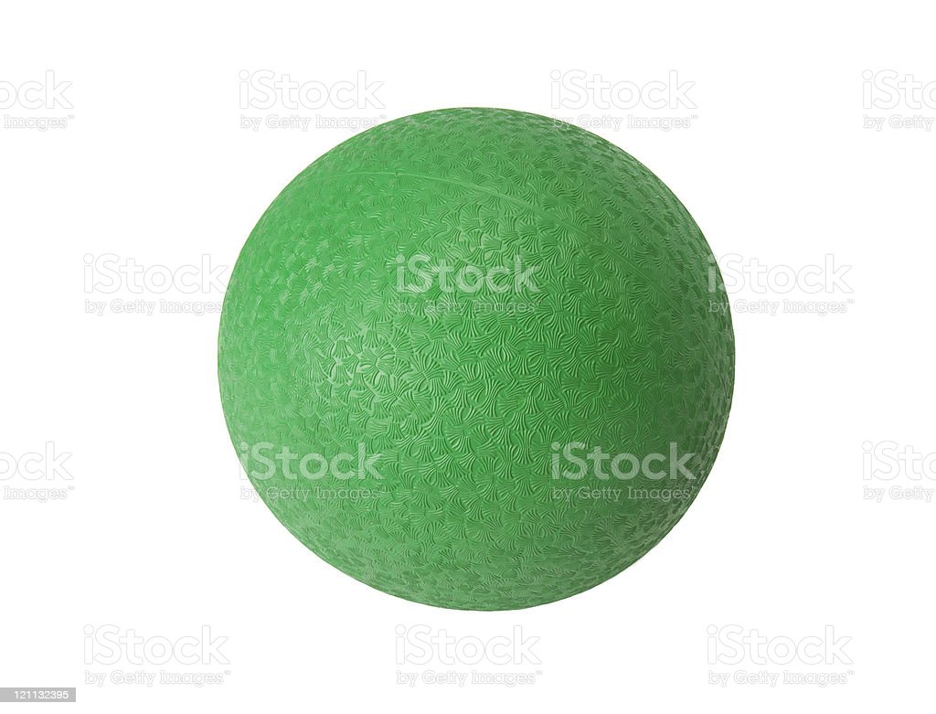 Green dodgeball stock photo