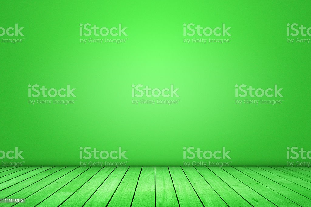 Green domestic room background stock photo