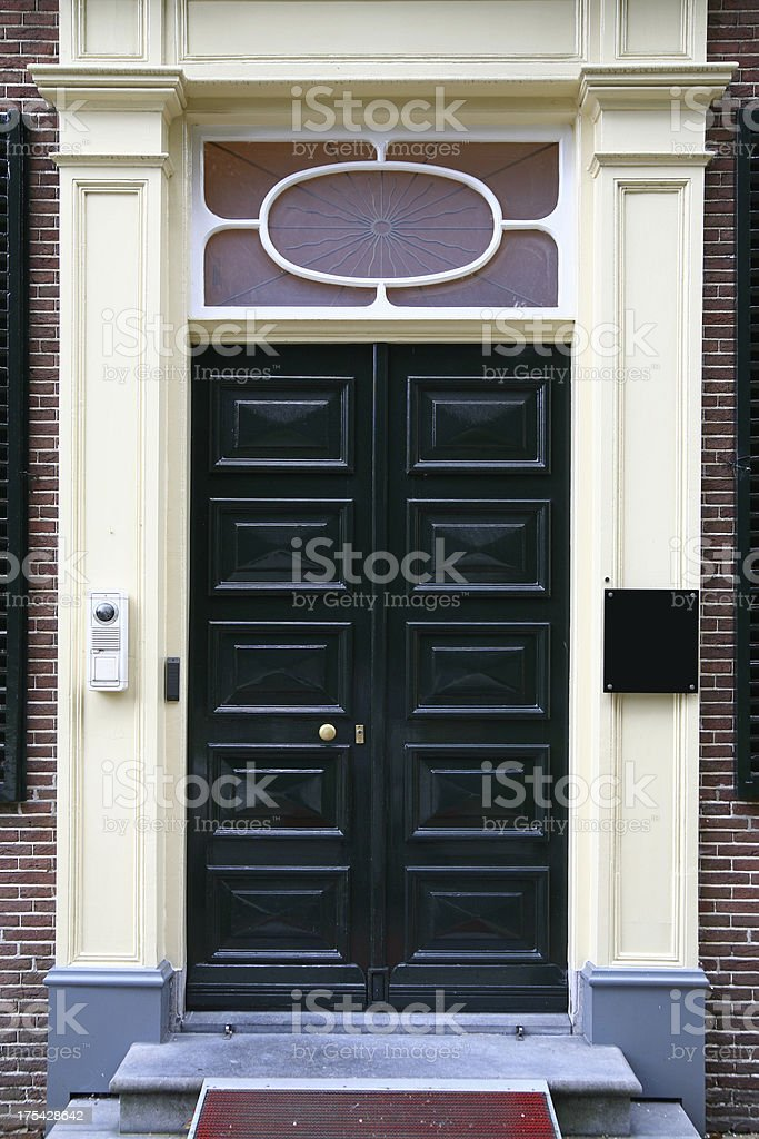 Green doors  (XL) stock photo