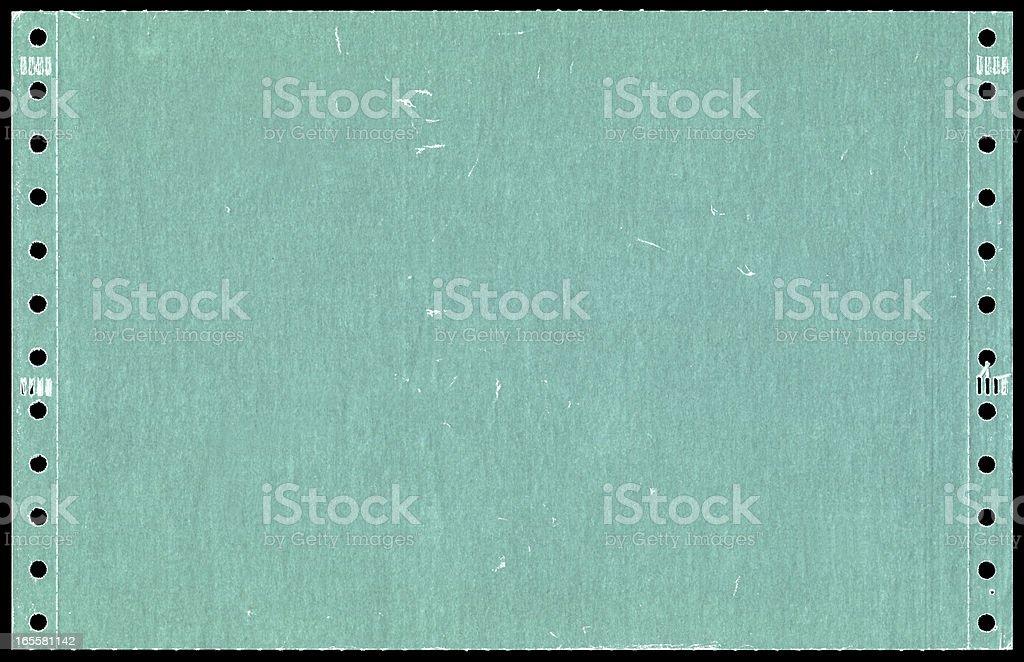 Green dot matrix printer paper background textured stock photo