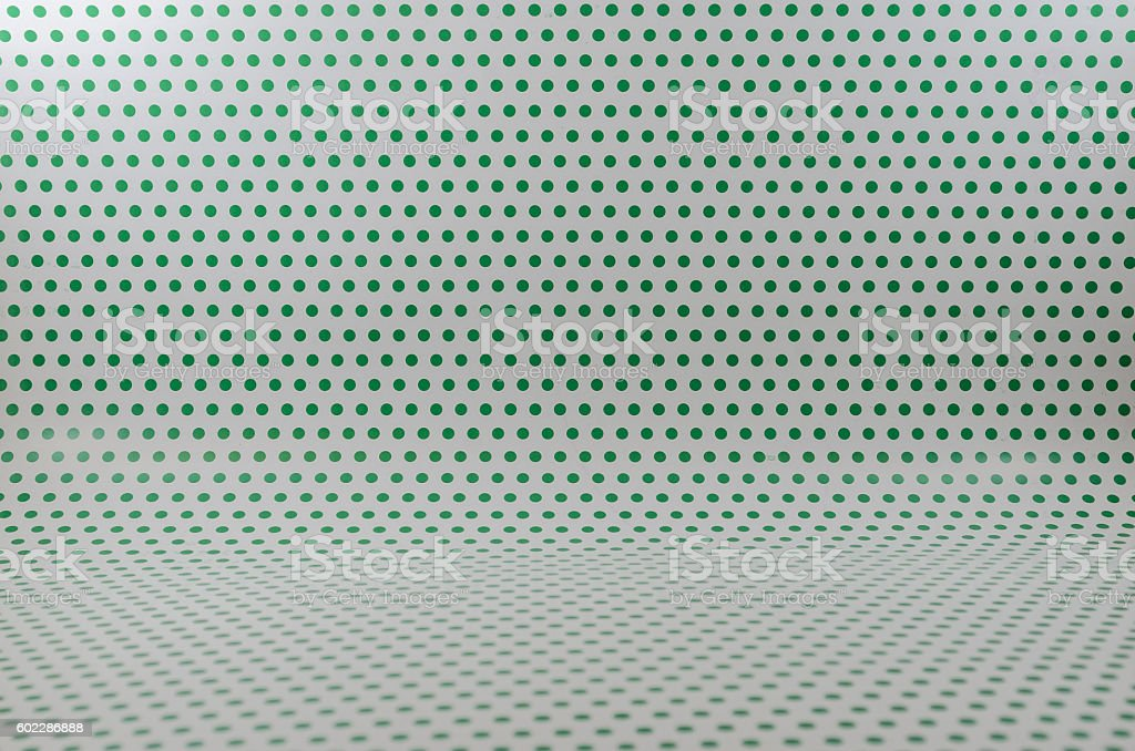 green dots on a White light backdrop stock photo
