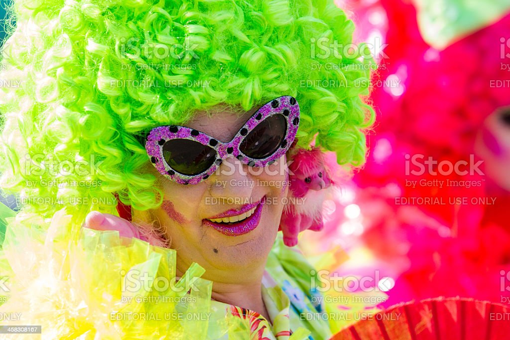 Green Drag Queen at Christopher Street Day stock photo