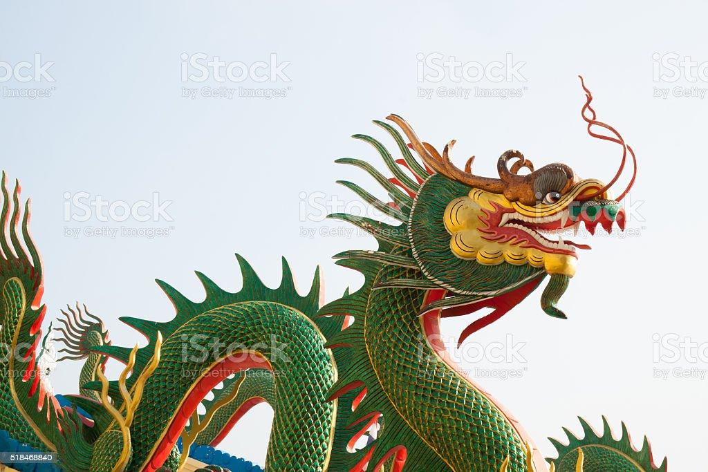 Green dragon statue royalty-free stock photo