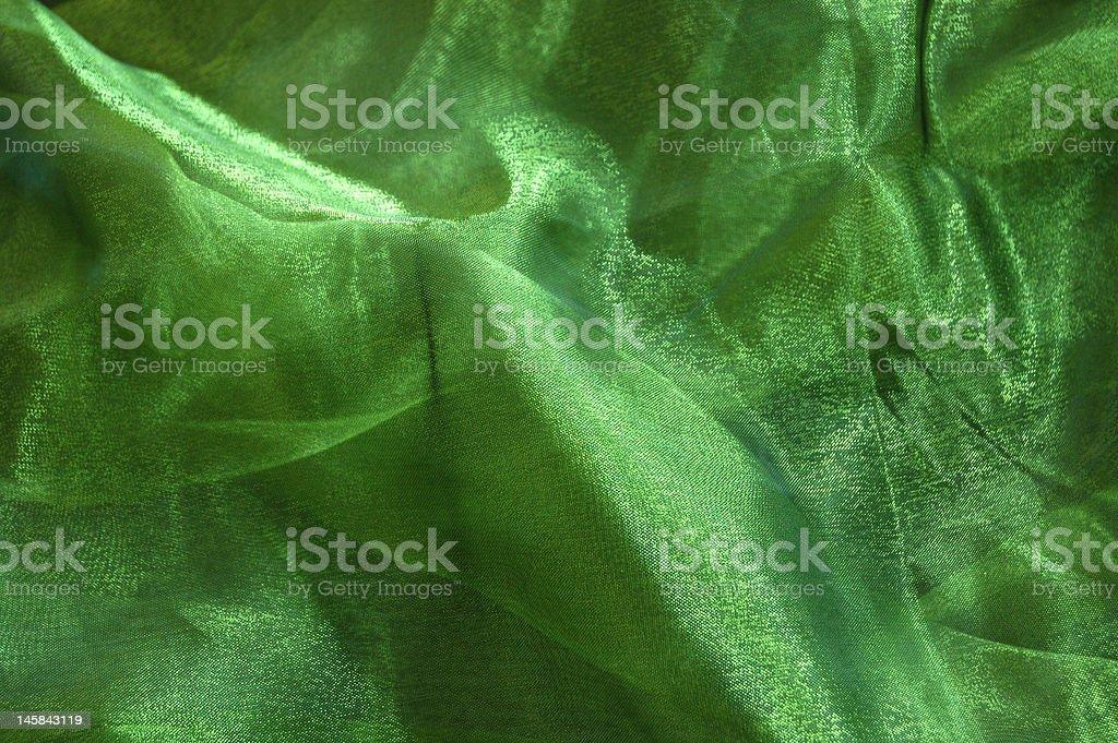 Green Drapery royalty-free stock photo