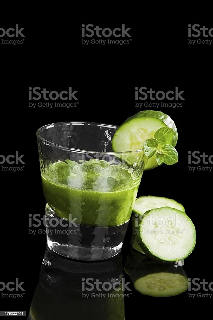 Green drink. royalty-free stock photo