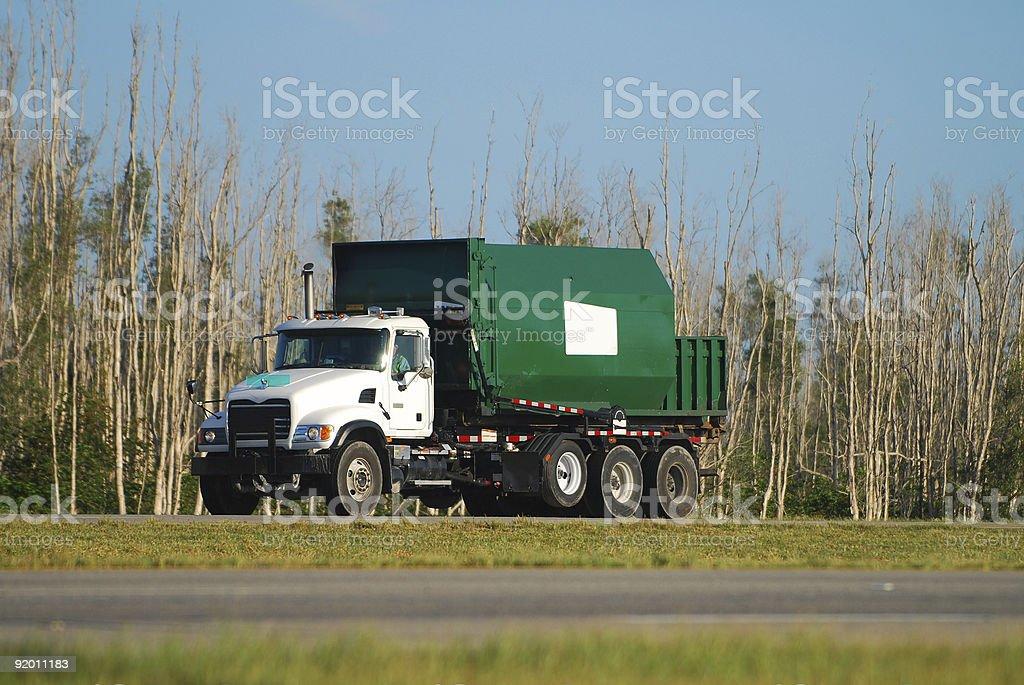Green dump truck royalty-free stock photo
