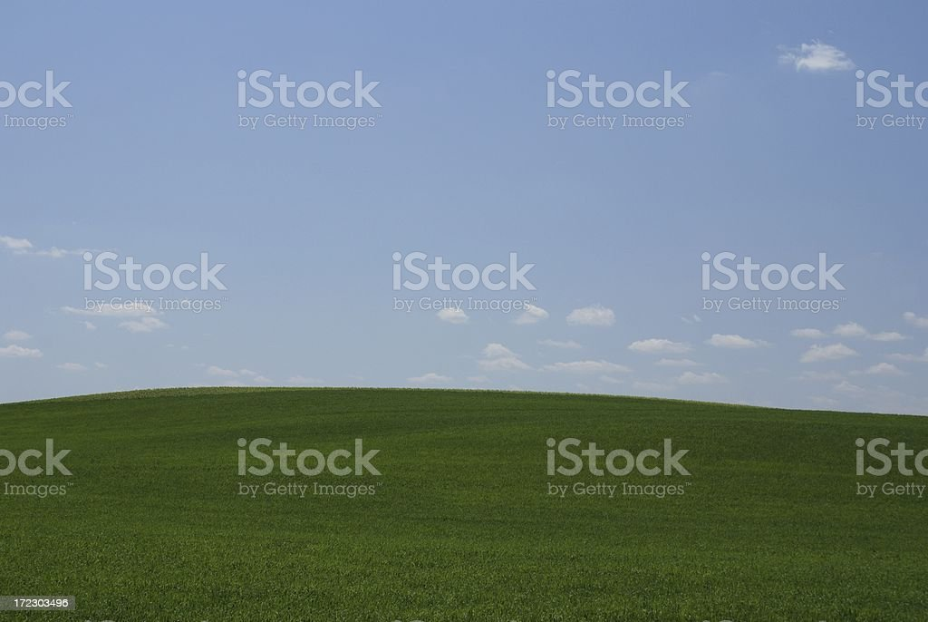 Green Earth, Blue Sky royalty-free stock photo