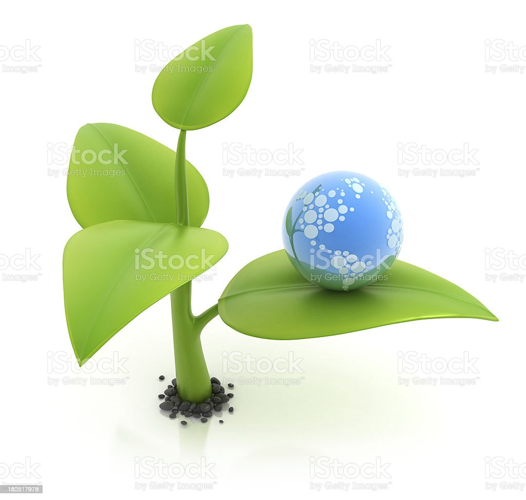 Green earth concept royalty-free stock photo
