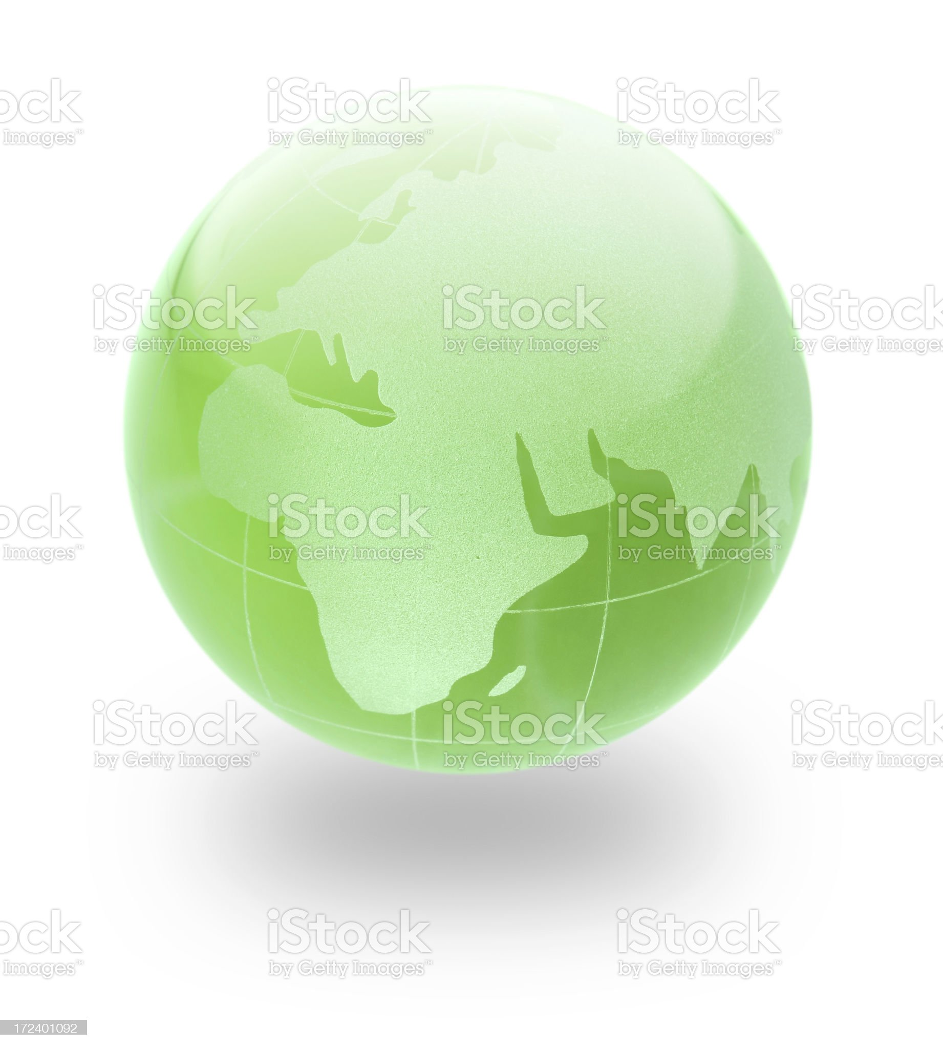 Green Earth glass Globe royalty-free stock photo