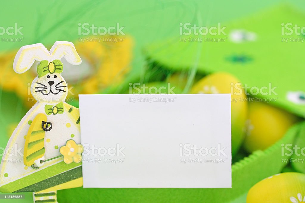 green easter card royalty-free stock photo