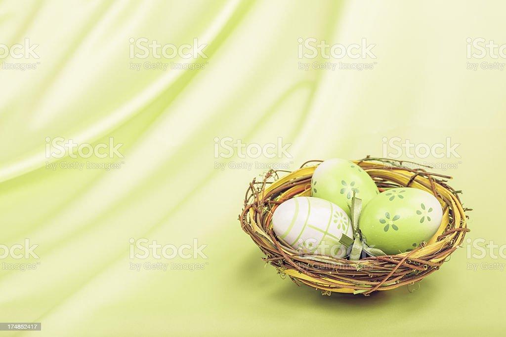 Green Easter Nest stock photo