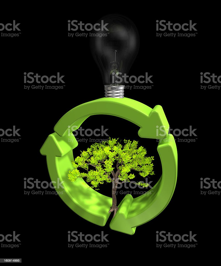 Green Eco Energy royalty-free stock photo