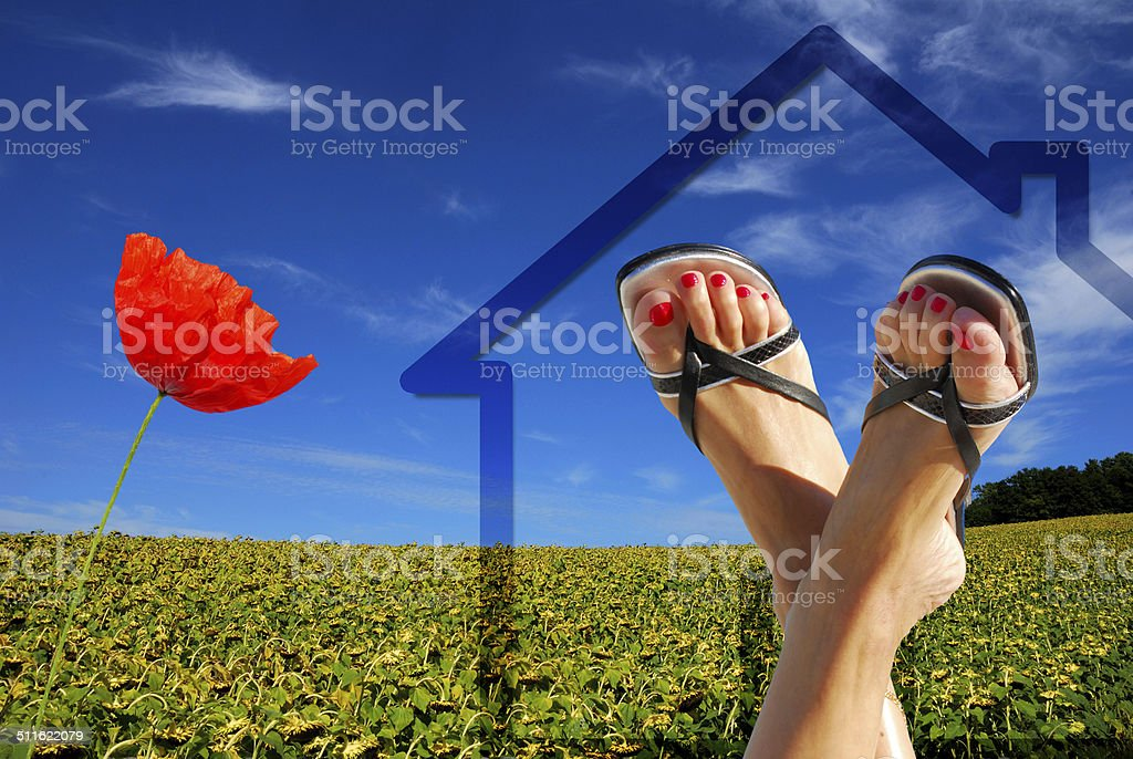green ecological house royalty-free stock photo