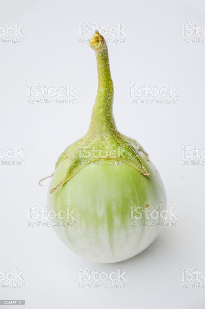 green eggplant stock photo