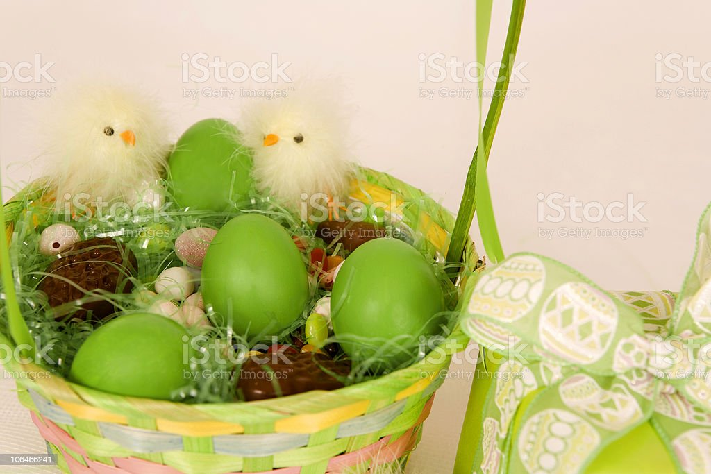 Green Eggs and Gift royalty-free stock photo