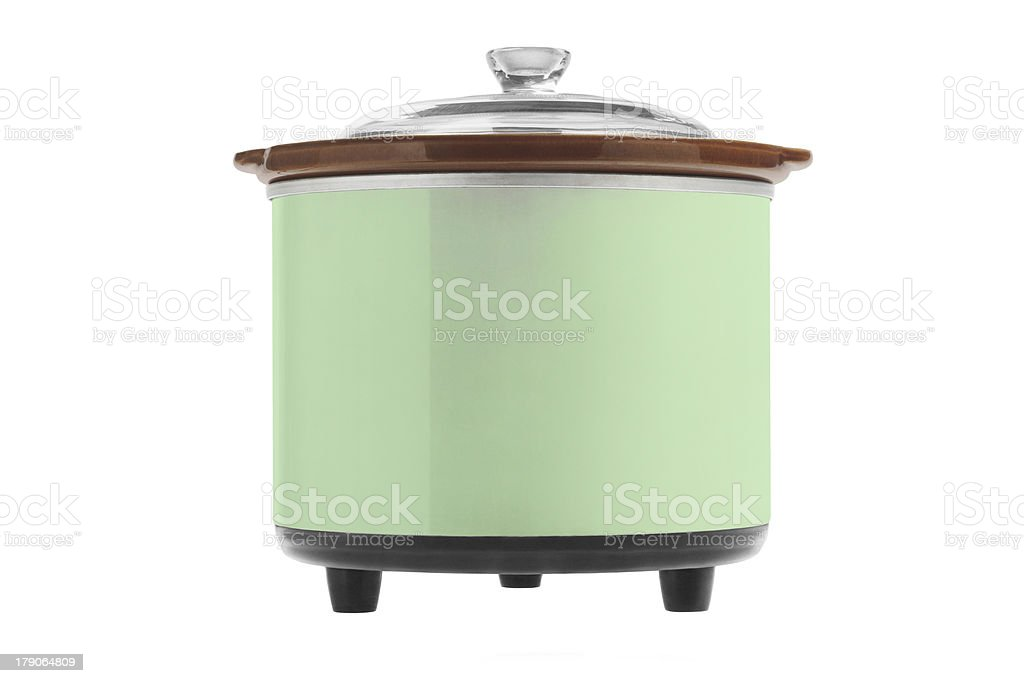 Green Electric Cooker stock photo