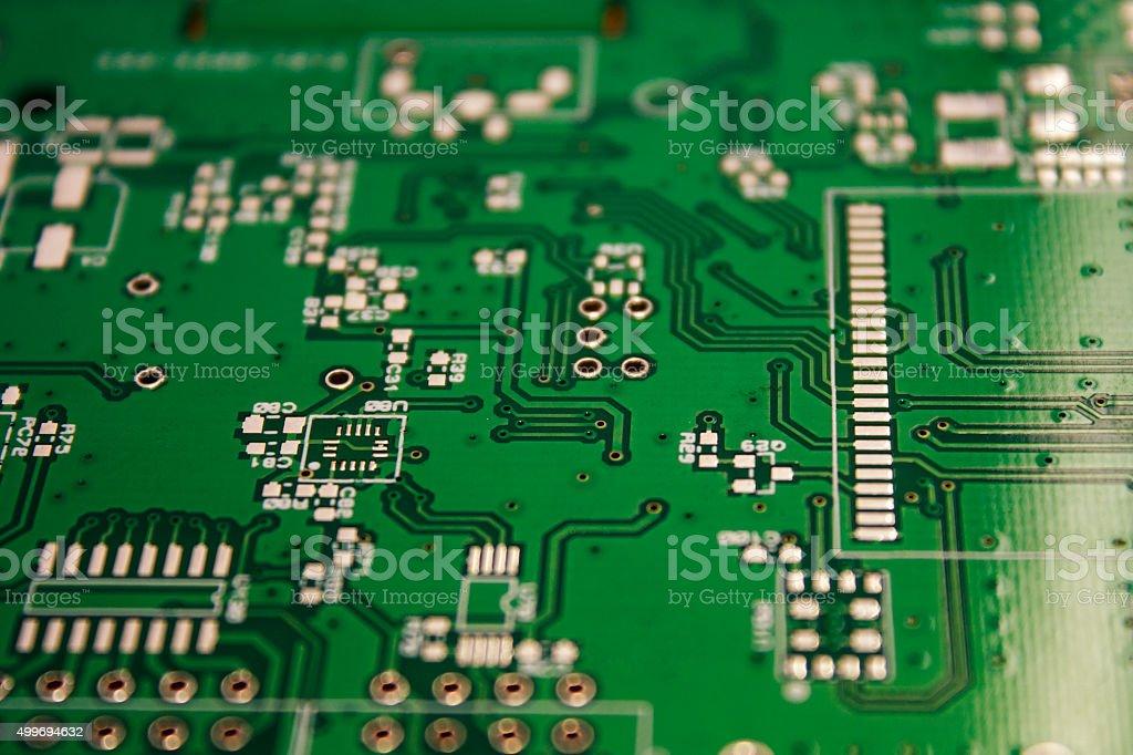 green electronic card stock photo