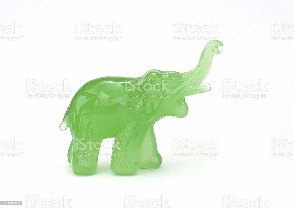 Green Elephant stock photo