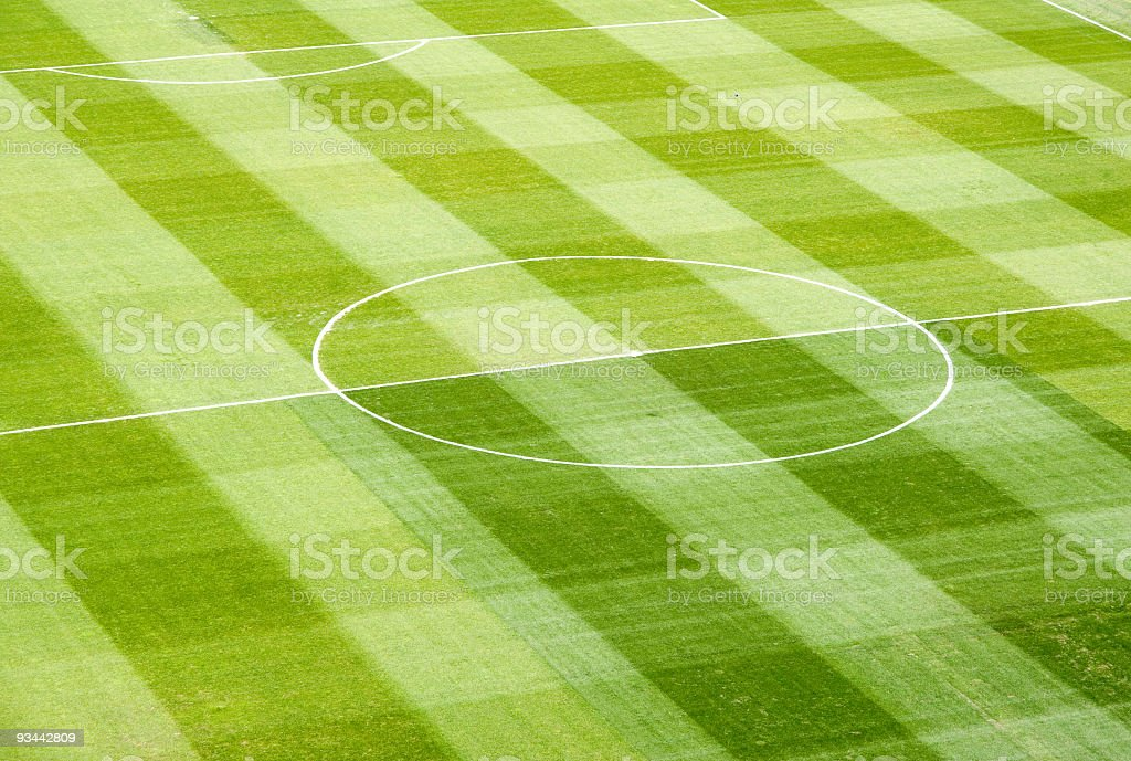 Green Empty Soccer Field Background Texture Pattern royalty-free stock photo