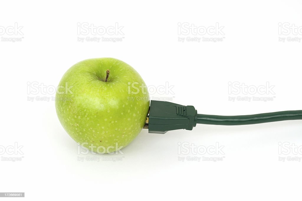 Green Energy and Power Foods Concept royalty-free stock photo