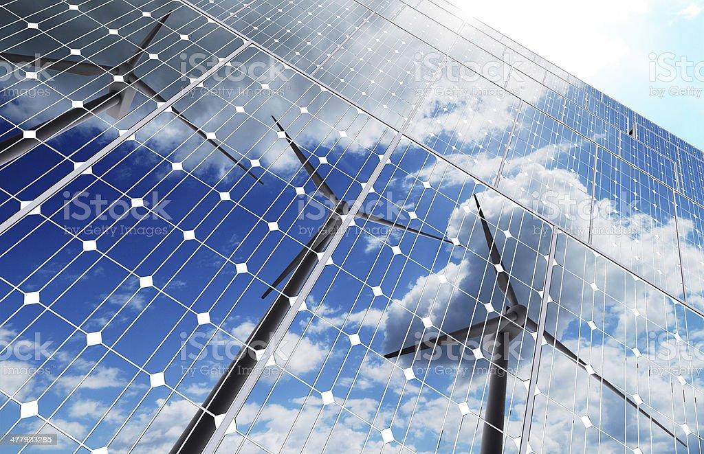 green energy background stock photo