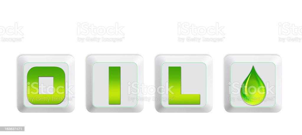 Green energy concept - isolated on White Background stock photo