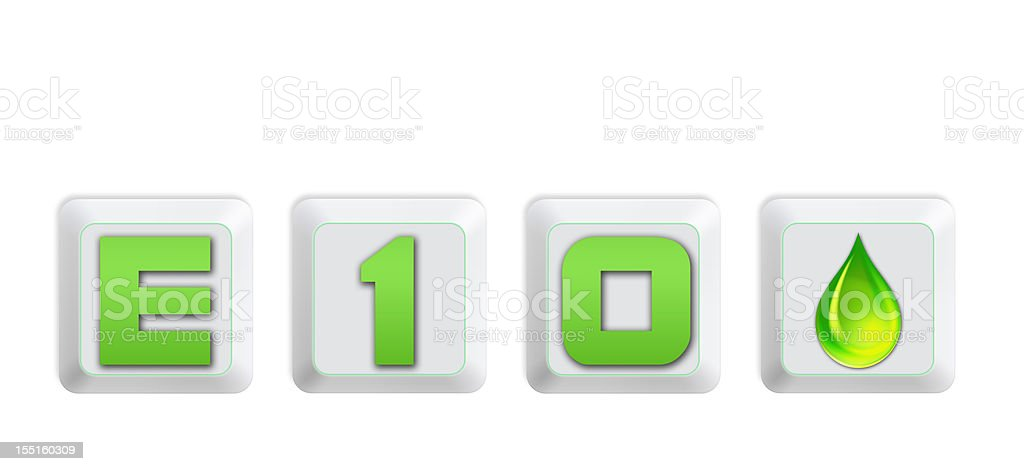Green energy concept - New E10 fuel super in Germany stock photo